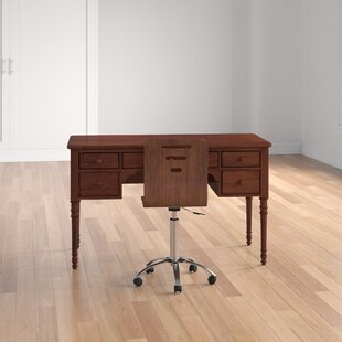 Marston Wood Desk and Chair Set by Three Posts
