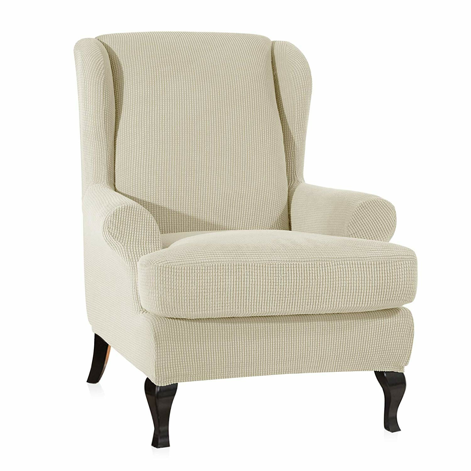 Terrific Stretch Jacquard Spandex T Cushion Wingback Slipcover Pdpeps Interior Chair Design Pdpepsorg