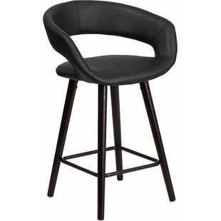 Whelan Rounded Low Back Bar Stool by Orren Ellis