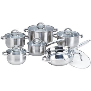 Heim Concepts 12-Piece Stainless Steel Cookware Set