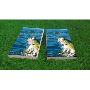 Bass Fishing Light Weight Cornhole Game Set