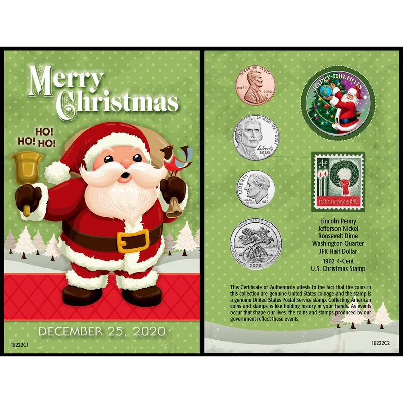 Photo Christmas Cards 2020 Under 25 Cent Each The Holiday Aisle® Santa Year to Remember 2020 Coin Christmas Card