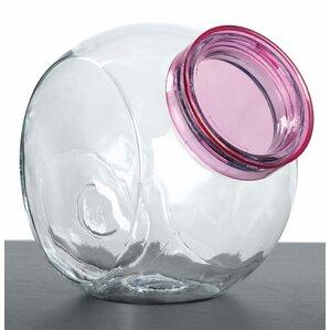 glass 5 piece cookie jar set
