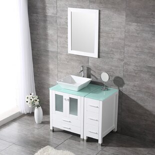 Roberge 36'' Single Bathroom Vanity Set with Mirror by Brayden Studio