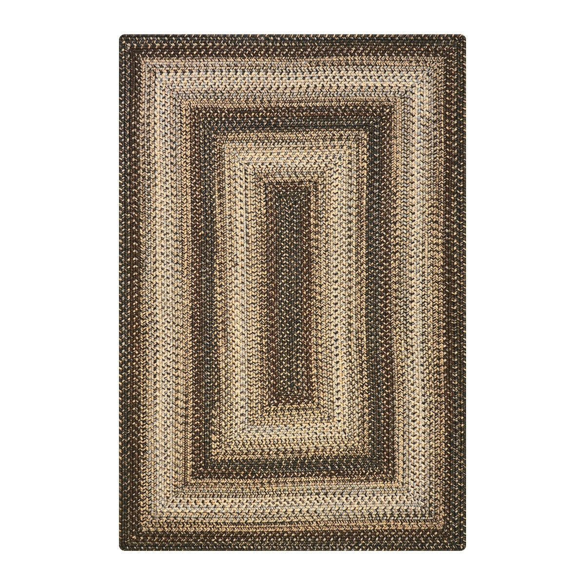 Homespice Decor Oval Abstract Hand Braided Brown Area Rugs Wayfair