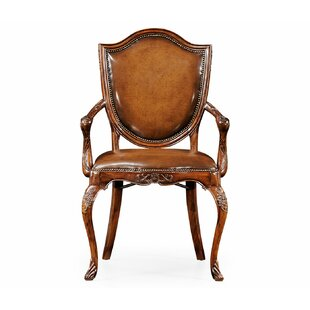 Buckingham Genuine Leather Upholstered Dining Chair (Set of 2)