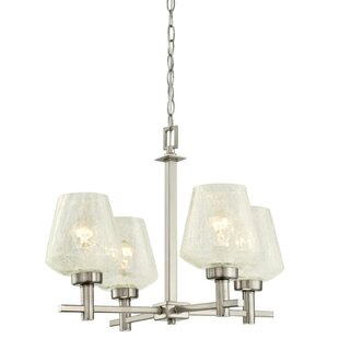Latitude Run Nutley Indoor 4-Light Shaded Chandelier