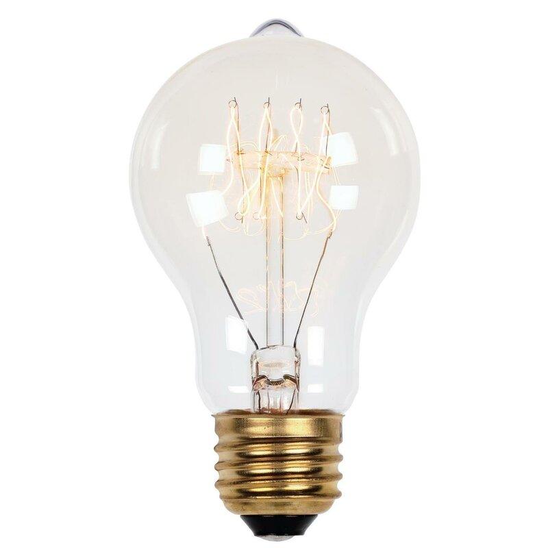 A19 Incandescent Light Bulb Soft White 2450k E26