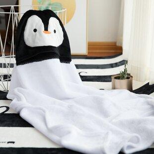 Chilson Penguin Hooded Flannel Animal Baby Blanket 95dcab619