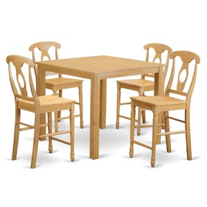 Cafe 5 Piece Counter Height Pub Table Set..