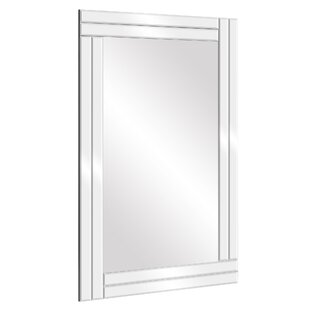 Henninger Frameless Stepped Beveled Edge Wall Mounted Accent Mirror