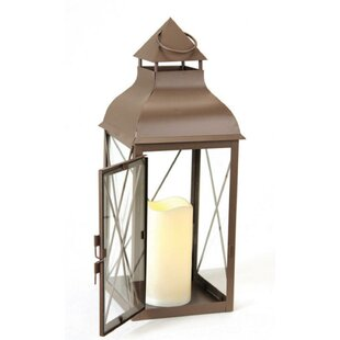 Darby Home Co Metal Lantern with Flameless LED Lantern
