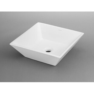 Formation Ceramic Square Vessel Bathroom Sink by Ronbow