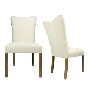 One Allium Way Politte Spring Seating Double Dow Upholstered Parsons Chair (Set of 2)