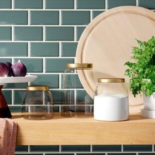 Round Glass 3 Piece Storage Jar Set