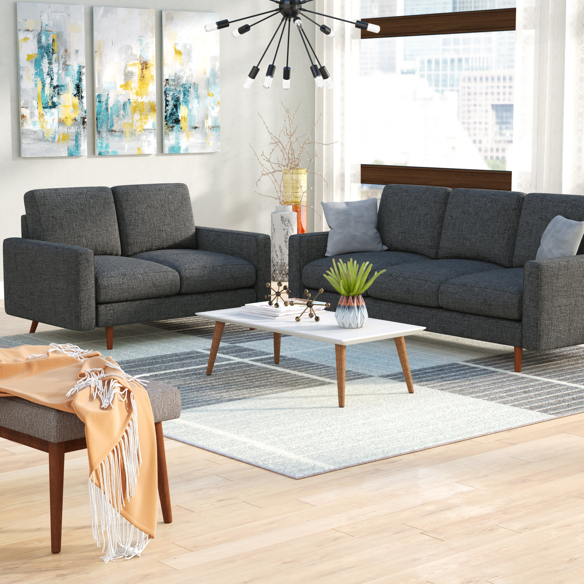 Macsen 2 Piece Living Room Set