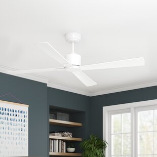 52 Sheilds 4 Blade Ceiling Fan with Remote by Orren Ellis