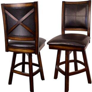 Dulcie 26 Swivel Bar Stool (Set of 2) by Millwood Pines