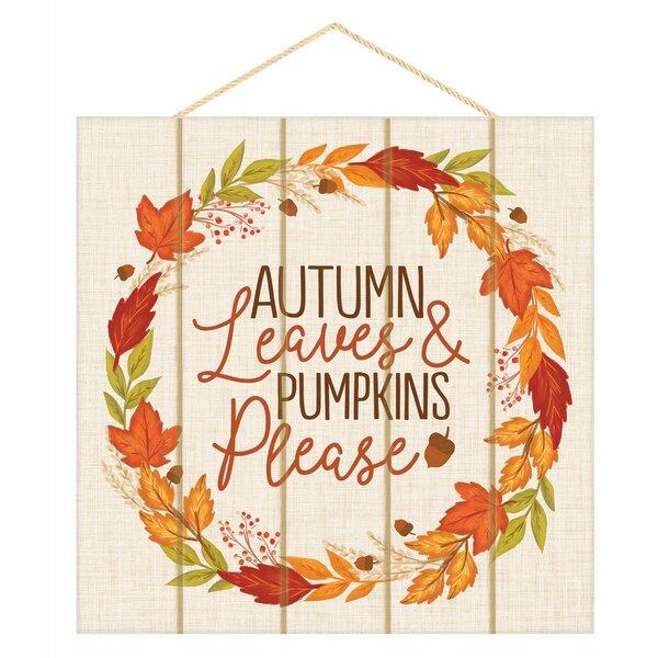 Hello Pumpkins Autumn Fall CANVAS Wall Art Décor
