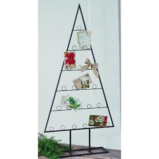 2 piece tabletop tree card holder set