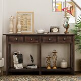 Ethridge 59 Solid Wood Console Table by Longshore Tides