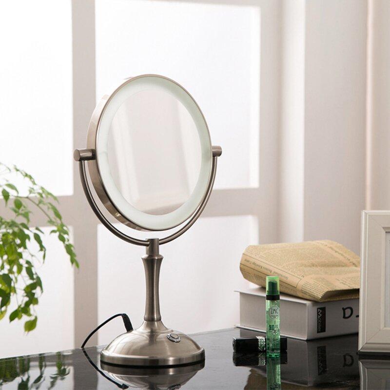 Orren Ellis Kulas Double Sided Modern Lighted Makeup Mirror