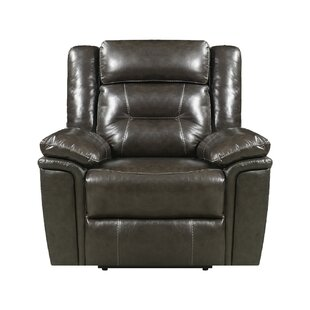 Marlink Leather Power No Motion Recliner