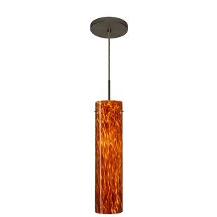 Stilo 1-Light Cylinder Pendant by Besa Lighting