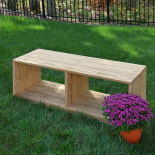 Outdoor Solid Wood Storage Bench