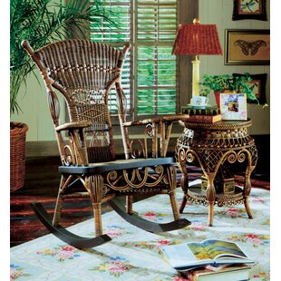 Yesteryear Wicker Millie Brownwash Rocking Chair