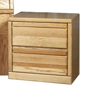 Millwood Pines Askins 2 Drawer Nightstand