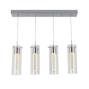 Orren Ellis Zachery 4-Light LED Kitchen Island Pendant