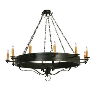 2nd Ave Design Parnella 12-Light Wagon Wheel Chandelier