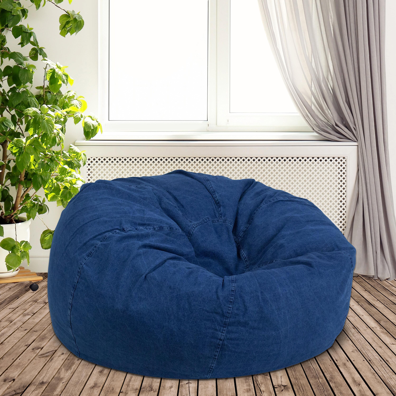 Brilliant Denim Large Bean Bag Chair Forskolin Free Trial Chair Design Images Forskolin Free Trialorg