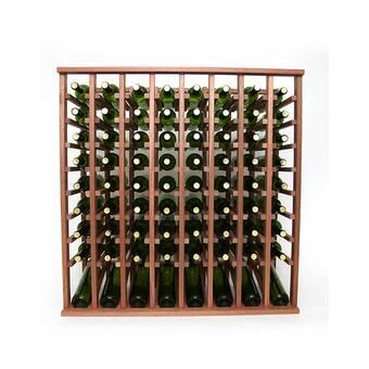 Rebrilliant Lurmont 60 Bottle Solid Wood Floor Wine Bottle Rack Wayfair