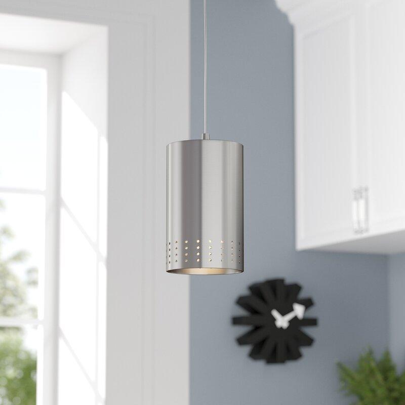 Wrought Studio Netherside 1 Light Single Cylinder Pendant Reviews Wayfair