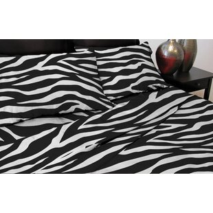 Zebra 110 Thread Count Satin Sheet Set