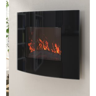 Bartow Curved Wall Mounted Electric Fireplace by Ebern Designs