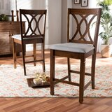 Sessums Solid Wood 25 Counter Stool (Set of 2) by Canora Grey