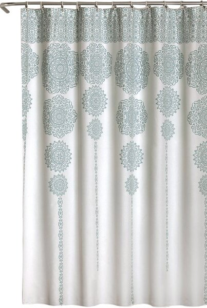 white and silver shower curtain. Nemeara Shower Curtain Mistana  Reviews Wayfair