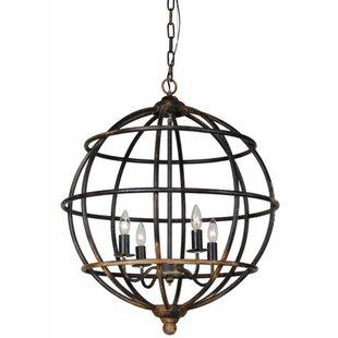 Chiara 4-Light Globe Chandelier by Gracie Oaks