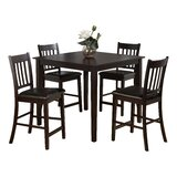 Manns 5 Piece Solid Wood Dining Set by Charlton Home®