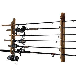 2 Piece Fishing Rod Wall Mounted Fishing Rack