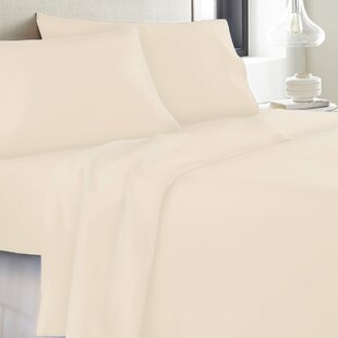 Allbritton 1800 Thread Count Solid 100 Cotton Sheet Set ByCanora Grey