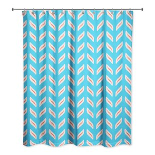 Nessa Tire Track Single Shower Curtain