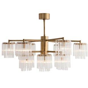 Gretta 12-Light Shaded Chandelier by ARTERIORS