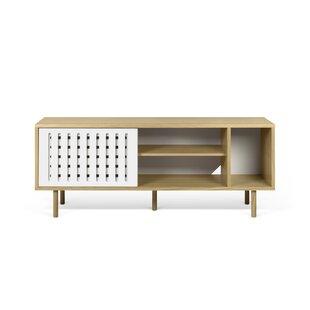 Garry Stripes Wood Sideboard by Corrigan Studio