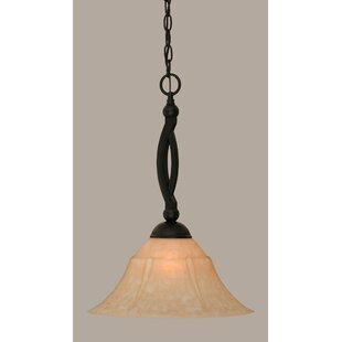 Fleur De Lis Living Blankenship 1-Light 150W Matte Black Mini Pendant
