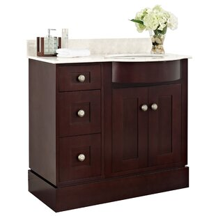 Kester 36 Single Bathroom Vanity Set with Stone Top by Darby Home Co