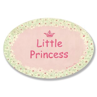 Paxson Little Princess/Daisies Oval Wall Plaque ByHarriet Bee